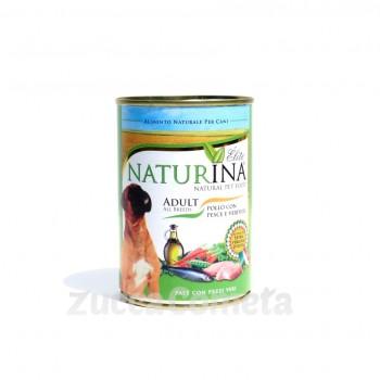 Cane adult Naturina Élite - Pollo con Pesce e Verdure 400g - cane