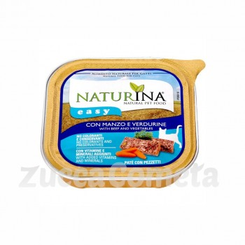 Naturina Easy: con Manzo e Verdurine - 100g - gatto