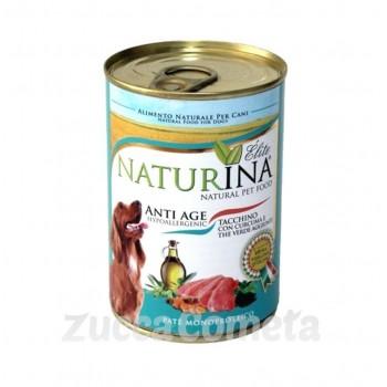 Anti-Age Naturina Élite - Tacchino con Curcuma e the verde 400g - cane senior