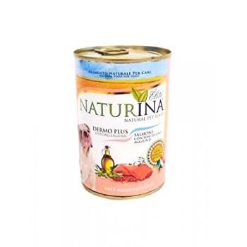 Dermo Plus 400 g - salmone con semi di lino - paté monoproteico - Naturina Élite - cane adulto
