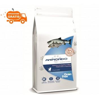 Cane cucciolo - Salmone con Eglefino e Melù, Patate dolci e Asparagi/Grain Free 2/ - kg - Animondo