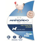 Cane adulto mini - Pollo con Patate dolci ed Erbette/Grain Free - Animondo