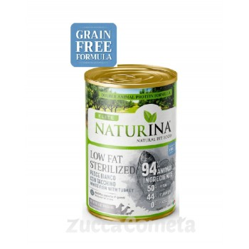 Low_fat_sterilized (light) - Pesce bianco con tacchino 400 g - Naturina Élite - cane adult