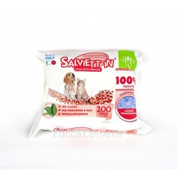 Salviette igienizzanti biodegradabili per animali domestici – con Clorexidina – Salviett_in